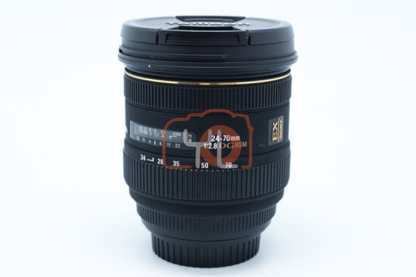 [USED-PUDU] Sigma 24-70mm F2.8 DG HSM EX Lens (CANON-MOUNT) 90%LIKE NEW CONDITION SN:10679900