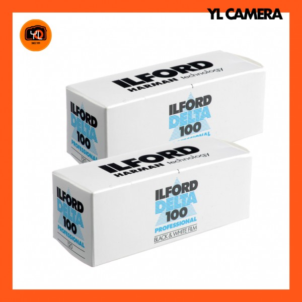 Ilford Delta 100 Professional Black and White Negative Film (120 Roll Film) – Pack of 2