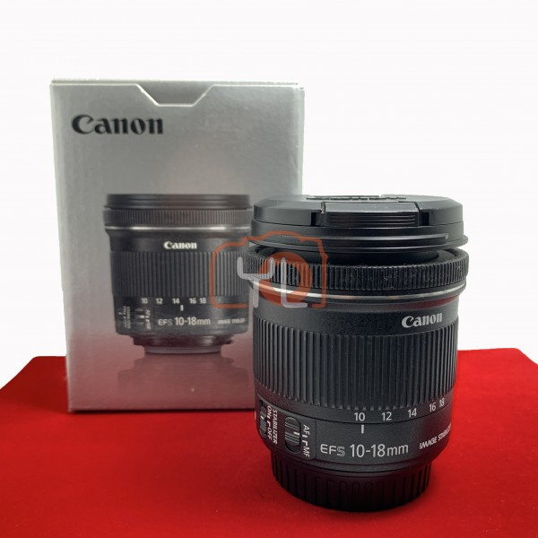 [USED-PJ33] Canon 10-18mm F4.5-5.6 IS STM EFS, 95% Like New Condition (S/N:2512001452)
