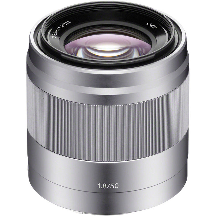 (SALE) Sony E 50mm F1.8 [Silver] (SEL50F18)