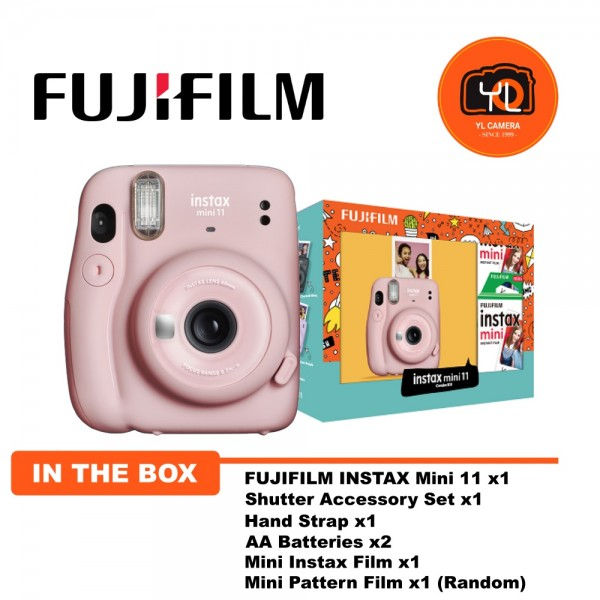 Fujifilm Instax Mini 11 Combo Kit - Blush Pink