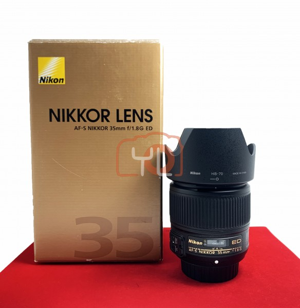 [USED-PJ33] Nikon 35MM F1.8 G FX AFS, 95% Like New Condition (S/N:220591)