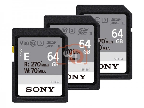 Sony 64GB SF-E Series UHS-II SDXC Memory Card (Pack of 3)