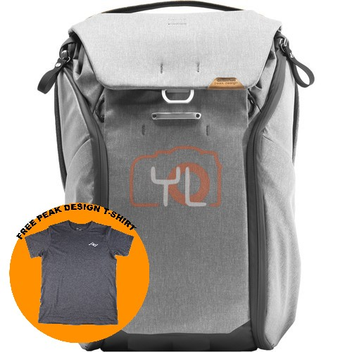 Peak Design Everyday Backpack 20L_Ash V2 (Free Peak Design T-Shirt)