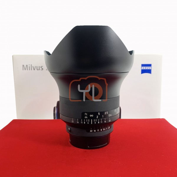 [USED-PJ33] Zeiss 15mm F2.8 Milvus ZF.2, 90% Like New Condition (S/N:51644042)