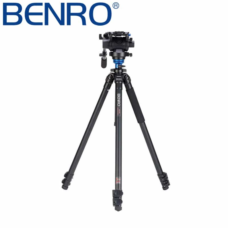 Benro A2573FS6 S6 Video Head and AL Flip Lock Legs Kit