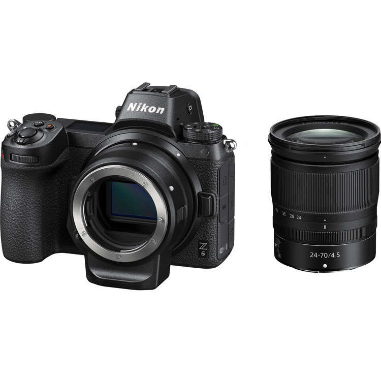 (Promo) Nikon Z 6 + Z 24-70mm F4 S + FTZ Lens Mount Adapter [Free 32GB XQD Card & XQD Card Reader & Camera Bag] (Online Redemption 1 Year Extended Warranty)