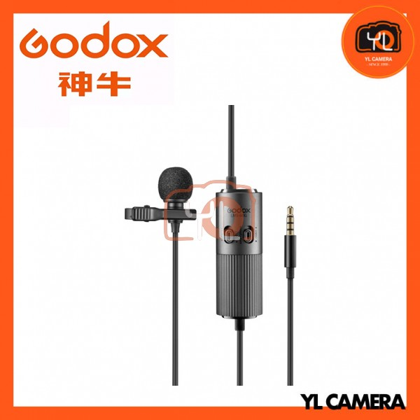 Godox LMS-60G Omnidirectional Lavalier Microphone with Adjustable Gain