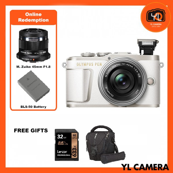 (Promotion) Olympus E-PL9 +  M.Zuiko 14-42mm EZ (White) [Free Lexar 32GB 95MB SD Card + Benro ELZ10 Camera Bag] [Online Redemption 45mm F1.8 + Extra Battery]
