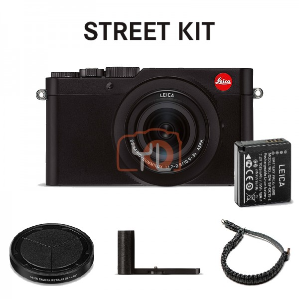 Leica D-Lux 7 Digital Camera - Black, Street Kit (19173)
