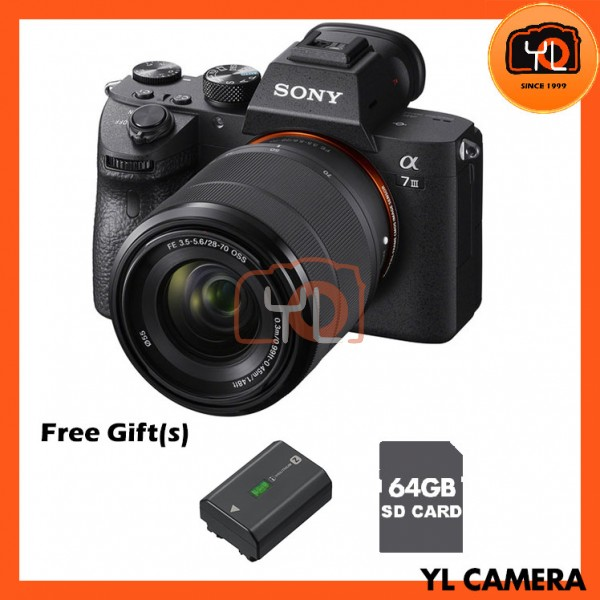 Sony a7 Mark 3 + FE 28-70mm F3.5-5.6 OSS [Free 64GB SD Card]