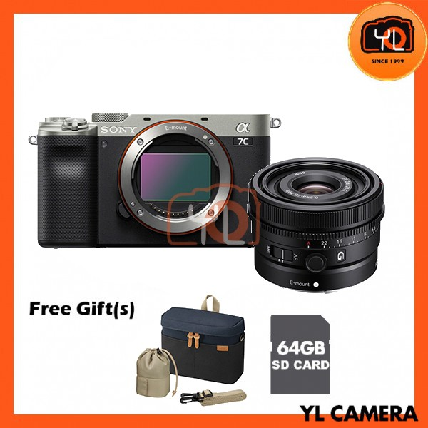 Sony A7C + FE 24mm F2.8 G - Black (Free 64GB SD Card + LCS-BBK)