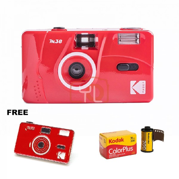 Kodak M38 Film Camera - RED W/ Pin Tag (Free Kodak ColorPlus)