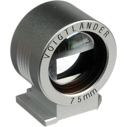 Voigtlander Viewfinder with Brightlines for 75mm Lens - Silver