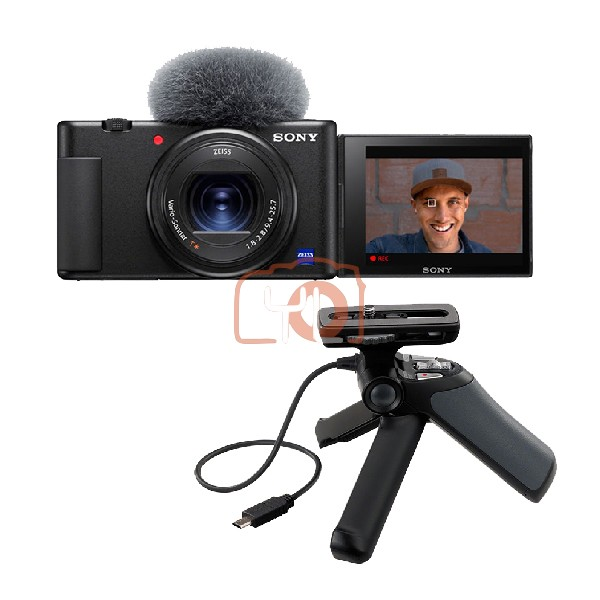 Sony Z-V1 Vlog Digtal Camera W/ GP-VPT-1 Mini Tripod Shooting Grip