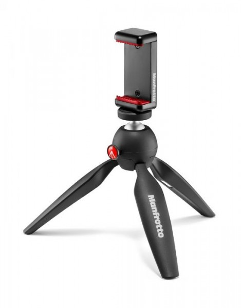 Manfrotto MKPIXICLAMP-BK PIXI Smart Mini Tripod with Universal Smartphone Clamp