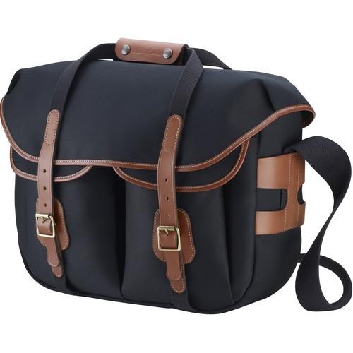 (SPECIAL DEAL) Billingham Hadley Large Pro Shoulder Bag (Black Canvas & Tan Leather)