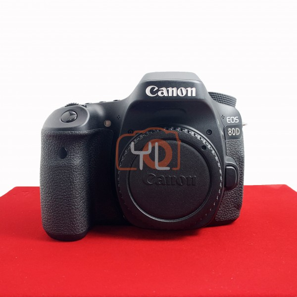 [USED-PJ33] Canon Eos 80D Body, 90% Like New Condition (S/N:31021002100)