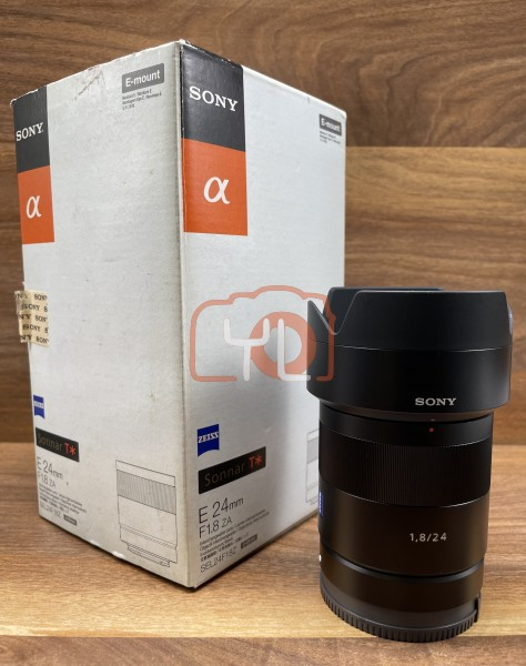 [USED @ YL LOW YAT]-Sony E 24mm F1.8 za Sonnar T* Lens,95% Condition Like New,S/N:0187475