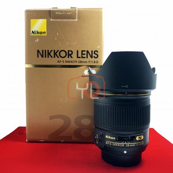 [USED-PJ33] Nikon 28mm F1.8 G AFS, 95% Like New Condition (S/N:204099)