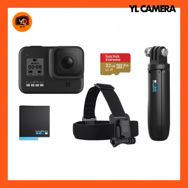 GoPro HERO8 Black - Head Strap Bundle Set