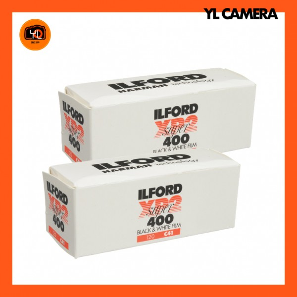 Ilford XP2 Super Black and White Negative Film (120 Roll Film) – Pack of 2