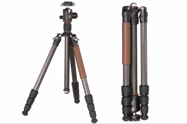 Leofoto LN-284CT W/ NB-40 28mm 4 Section Carbon Fibre Tripod Kit