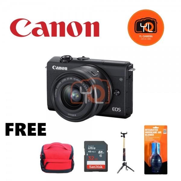 Canon EOS M200 + EF-M 15-45mm F/3.5-6.3 IS STM (Black) [Free 32GB SD Card + Camera Bag ]