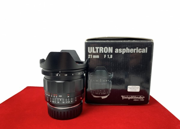 [USED-PJ33]  Voigtlander 21MM F1.8 Ultron ASPH (Leica M), 90% Like New Condition (S/N:8320947)