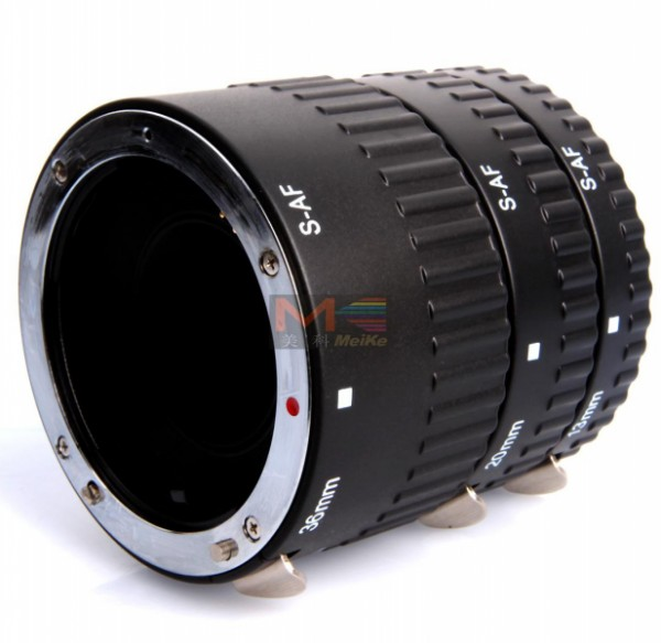 Meike 3-Piece Extension Tube AF Macro (For Sony Alpha Mount)