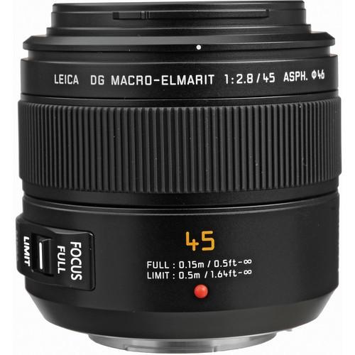Panasonic Leica 45mm F2.8 DG Macro-Elmarit ASPH. MEGA OIS (H-ES045)