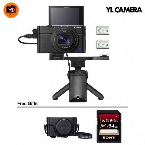 (PROMO) Sony RX100 Mark VII W/ Shooting Grip [Free 64GB SD Card + LCJ-RXF Case]