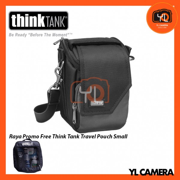 Think Tank Photo Mirrorless Mover 5 Camera Bag (Charcoal) Free Think Tank Photo Travel Pouch - Small
