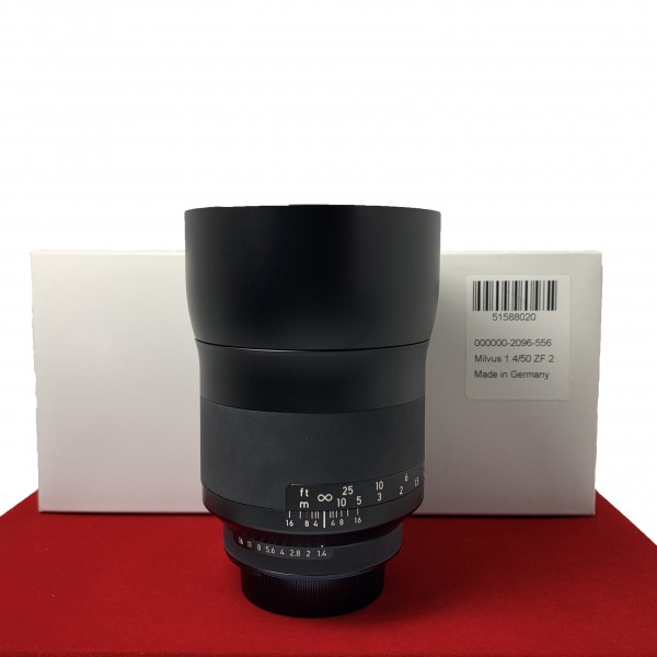 [USED-PJ33] Zeiss 50MM F1.4 Milvus Distagon T* ZF.2 (Nikon), 95% Like New Condition (S/N:51588020)