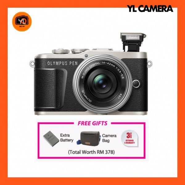 (CNY Offer) Olympus E-PL9 +  M.Zuiko 14-42mm EZ (Black)  [Free Online Redemption Extra Battery & Camera Bag Worth RM378]