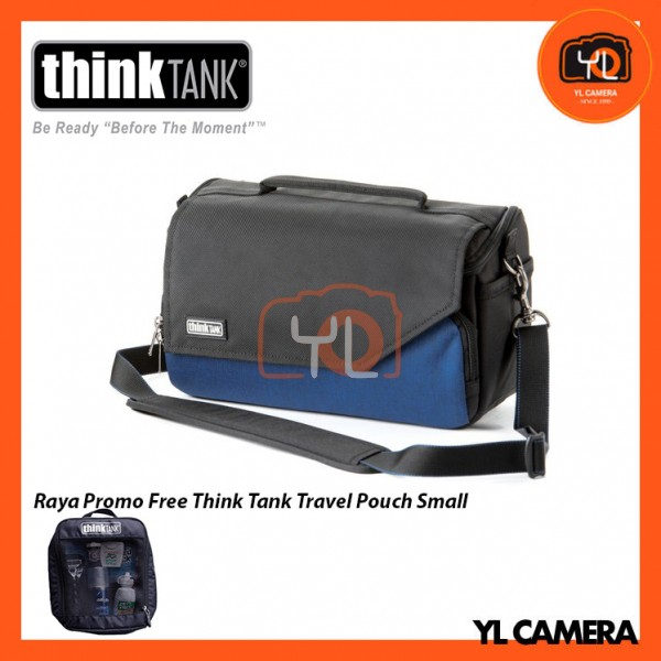 Think Tank Photo Mirrorless Mover 25i Camera Bag (Dark Blue) Free Think Tank Photo Travel Pouch - Small