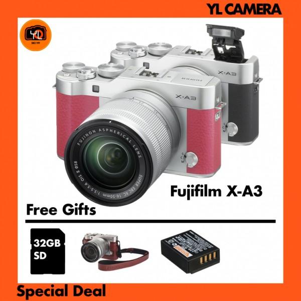Fujifilm X-A3 + XC 16-50mm f/3.5-5.6 OIS II (Pink) [Free Camera Case & 32GB SD Card & Extra Battery]