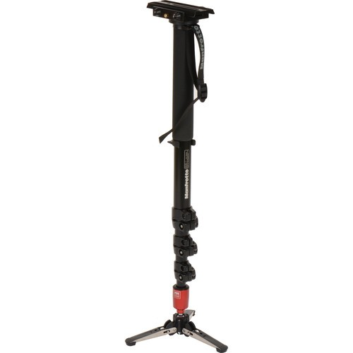 Manfrotto 562B-1 Fluid Video Aluminum Monopod with 357 Quick Release