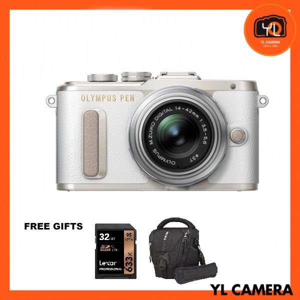 (Promotion) Olympus E-PL8 +  M.Zuiko 14-42mm EZ (White) [Free Lexar 32GB 95MB SD Card + Benro ELZ10 Camera Bag]