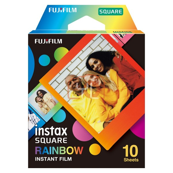 FUJIFILM INSTAX SQUARE Instant Film (Rainbow - 10 Exposures)