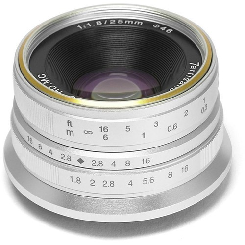 7artisans 25mm F1.8 For Micro Four Thirds (Silver)
