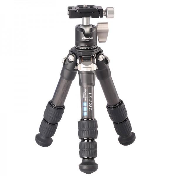 Leofoto LS-223C W/ LH-25 22mm 3sec Compact Carbon Fibre Tripod