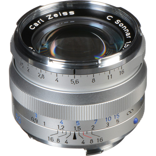 ZEISS C Sonnar T* 50mm F1.5 ZM Lens (Silver)