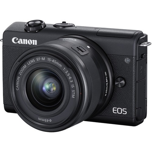 Canon EOS M200 + EF-M 15-45mm F/3.5-6.3 IS STM (Black) [Free 32GB SD Card + Camera Bag ]