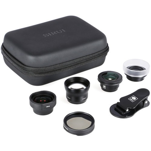 Sirui 4 Lens Kit For Smartphone (Wide/Portrait/Macro/Fisheye/Circular Polarizer)