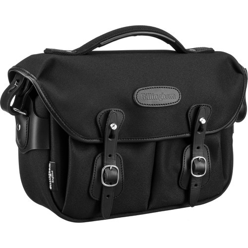 Billingham Hadley Small Pro Shoulder Bag (Black FibreNyte & Black Leather)