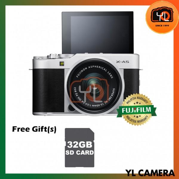 Fujifilm X-A5 + XC 15-45mm f/3.5-5.6 OIS PZ (Silver) [Free 32GB SD Card]