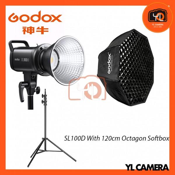 Godox SL100D Daylight With SB-FW120cm Octagon Soft Softbox + 280CM Light Stand (1 Light Kit)