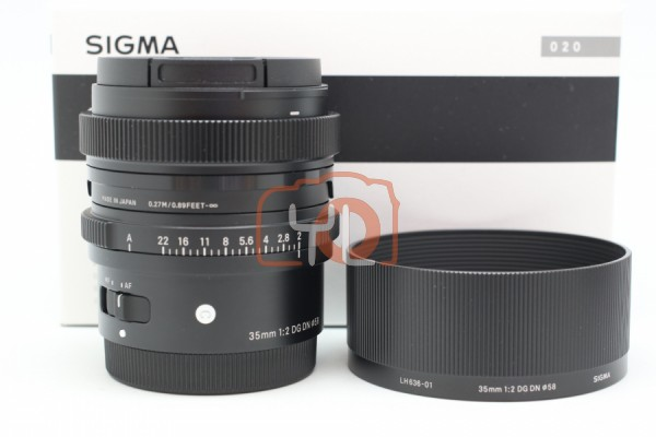[USED-PUDU] Sigma 35mm F2 DG DN Contemporary Lens (Sony E-Mount) 99%LIKE NEW CONDITION SN:55284032