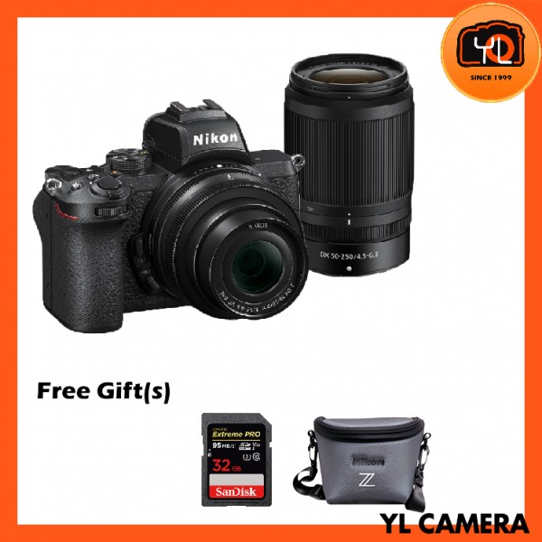Nikon Z 50 Camera + DX 16-50mm F3.5-6.3 VR + DX 50-250mm f4.5-6.3 VR Twin Lens Kit Set (Free 32GB ExtremePro SD Card + Camera Bag)